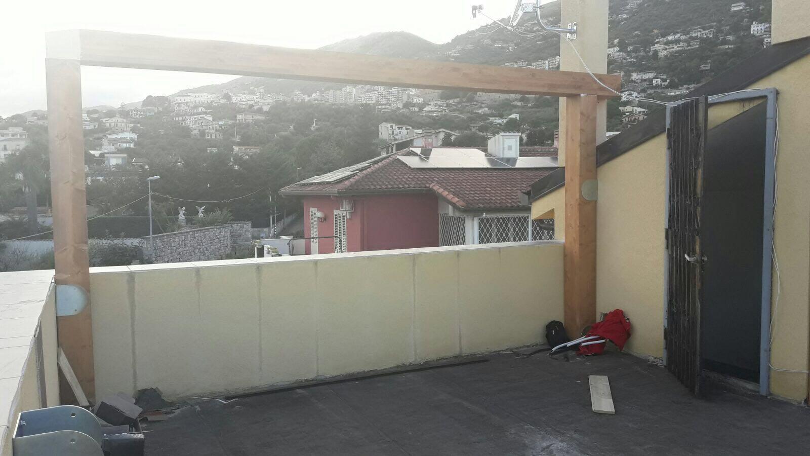 Copertura terrazza con travi lamellari - Le nostre realizzazioni ...