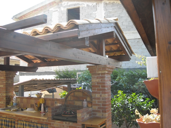 Perfect copertura cucina esterna with coperture per tettoie esterne - Coperture x esterni ...