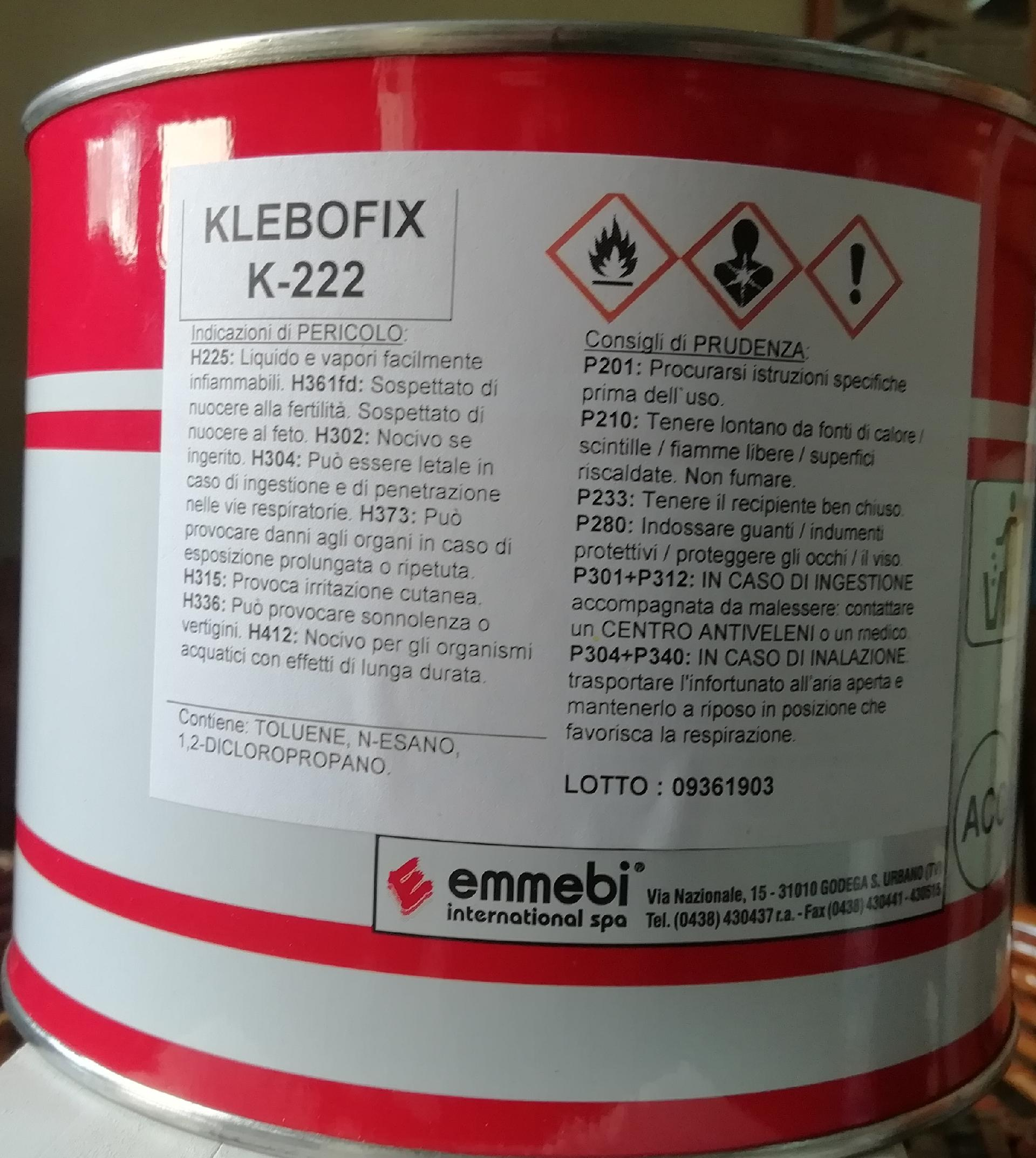 Colla Klebofix Emmebi International K-222