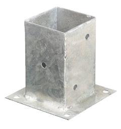 Porta pilastri a bicchiere chiuso 201x201x200 mm.3 Wurth