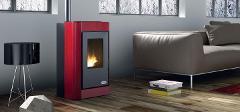 Stufa a pellet aria calda Karmek  Lisbona rosso