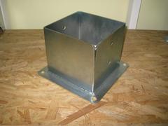 Porta pilastri a bicchiere chiuso 160x160 H 160 ZINCATO