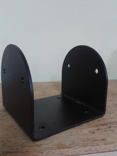 Porta pilastri a U 160x160x100 sp.5 mm stondato nero Comail
