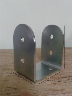 Porta pilastri a U 100x100x120 sp.5 mm stondato