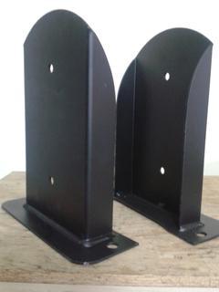 Coppia porta pilastro stondato sdoppiato da 160 sp.3 zincato Comail
