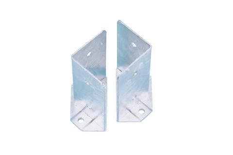 Coppia porta pilastro sdoppiato 80x80x150 sp.2.5  zincato bianco Comail