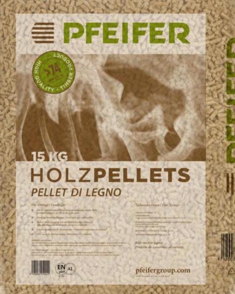 Pellets 100% abete A1 EN-PLUS  Pfeifer