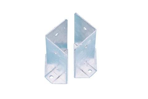 Coppia porta pilastro angolare sdoppiato 80x80 zincato