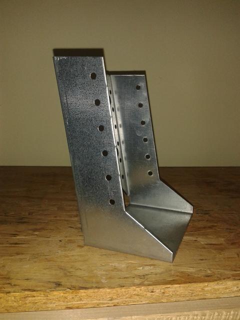 Scarpa ancoraggio travi V 120x160 zincato bianco con inclinazione