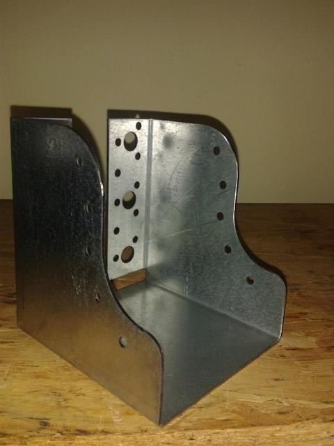 Scarpa ancoraggio travi sagomata 100x120 spessore 2 mm