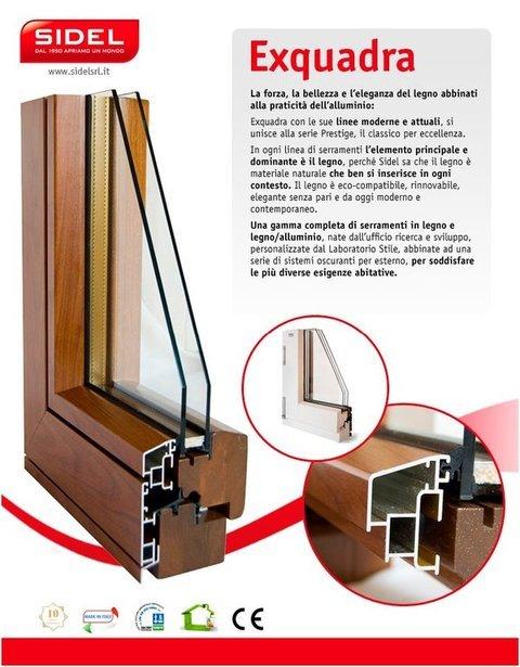 Finestra in legno alluminio Sidel Prestige