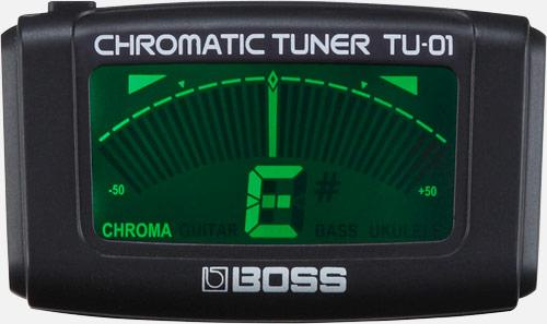 BOSS TU-01 Accordatore Cromatico Clip-On BOSS