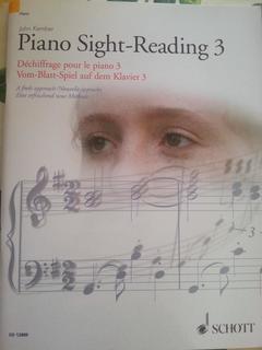 PIANO SIGHT READING 3 JOHN KEMBER SCHOTT