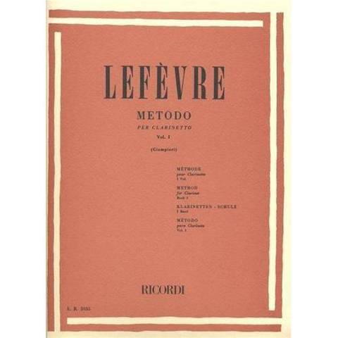 LEFEVRE J. X.: METODO PER CLARINETTO VOL. 1 RICORDI RICORDI