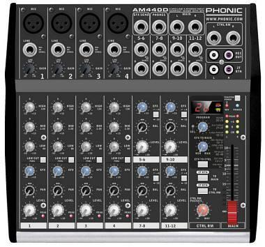 PHONIC AM440D MIXER CON EFFETTI PHONIC