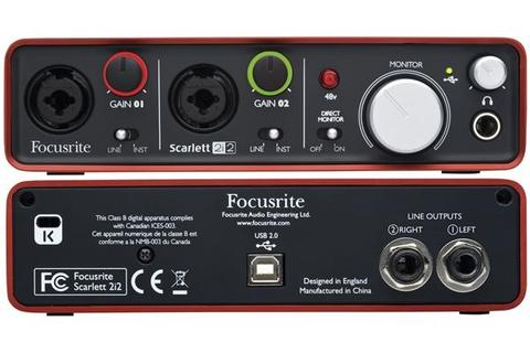 FOCUSRITE SCARLETT 2i2 - INTERFACCIA AUDIO USB 2 In/2 Out FOCUSRITE