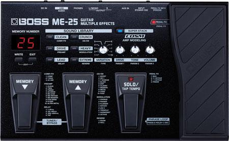 BOSS ME25 PEDALIERA MULTIEFFETTO BOSS