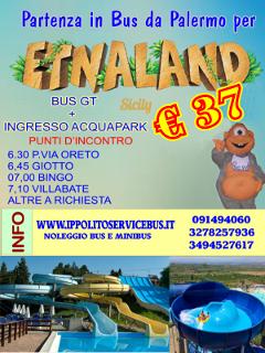 Da Palermo per Etnaland € 37,00 | Chiama 091494060 | Servizio giornaliero con Bus GT