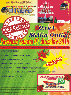 Bus shopping per IKEA Catania e Sicilia Outlet village