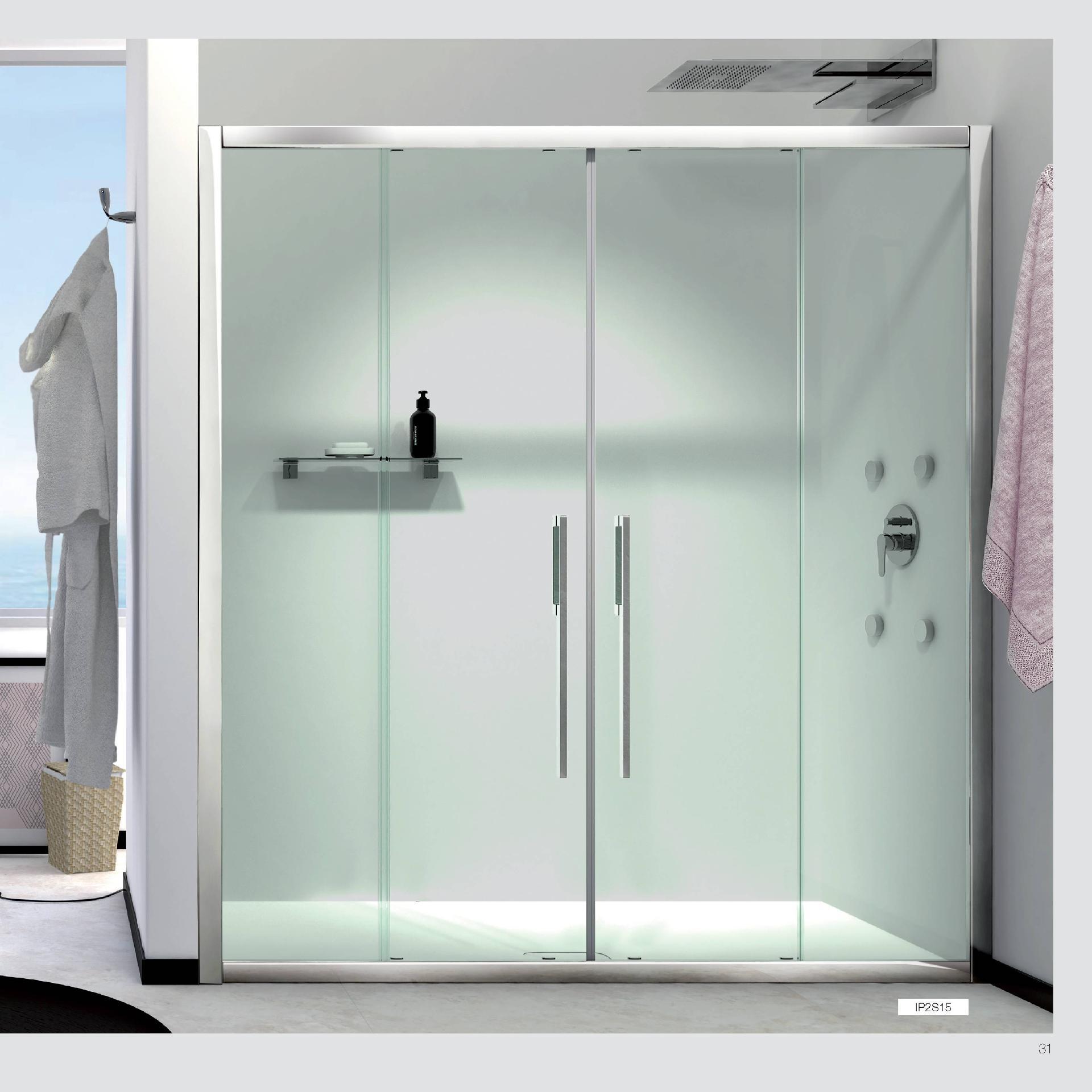 Giava con cristalli in vetro temperato made in italy giava for Arredo bagno con doccia