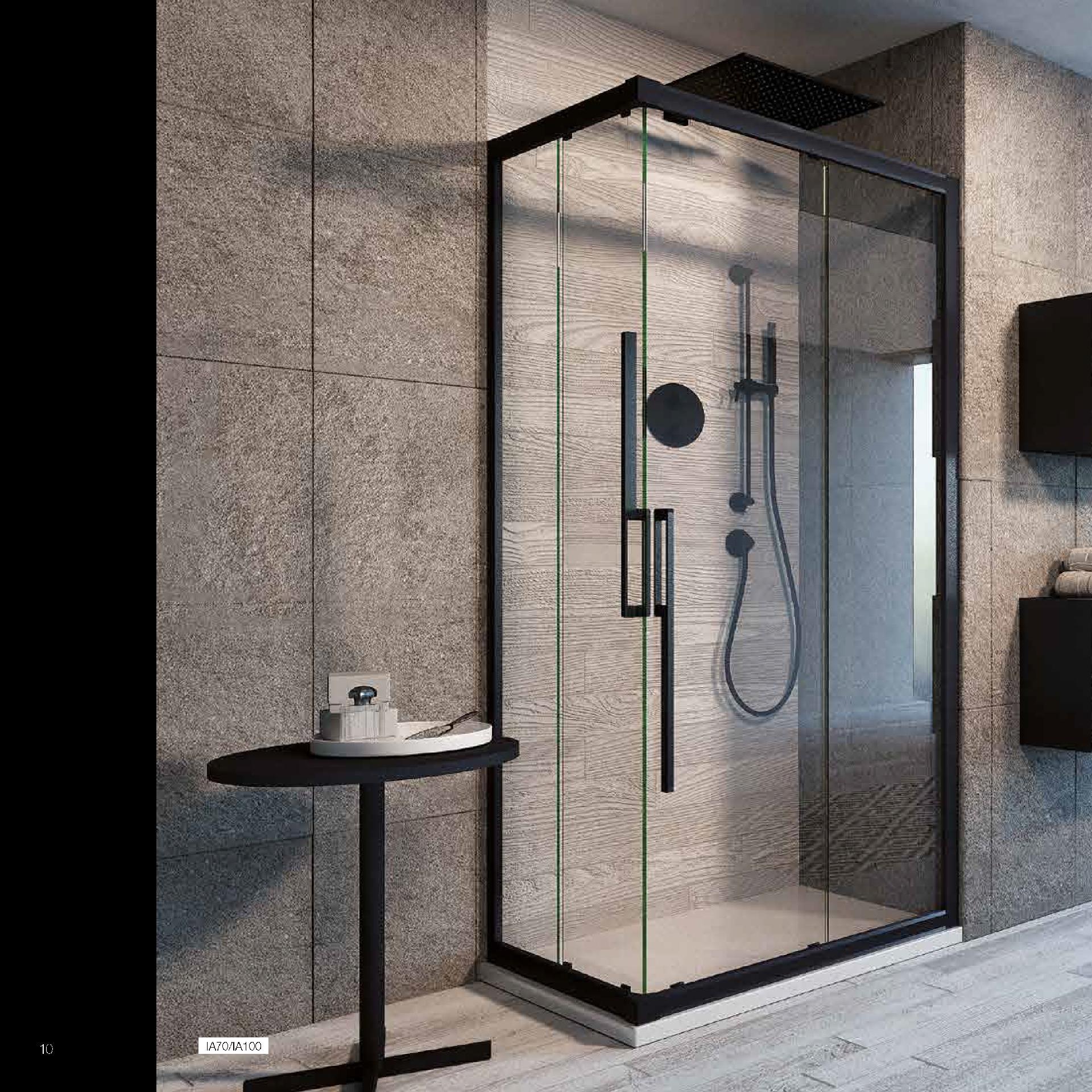 Giava con cristalli in vetro temperato made in italy giava for Arredo bagno con box doccia