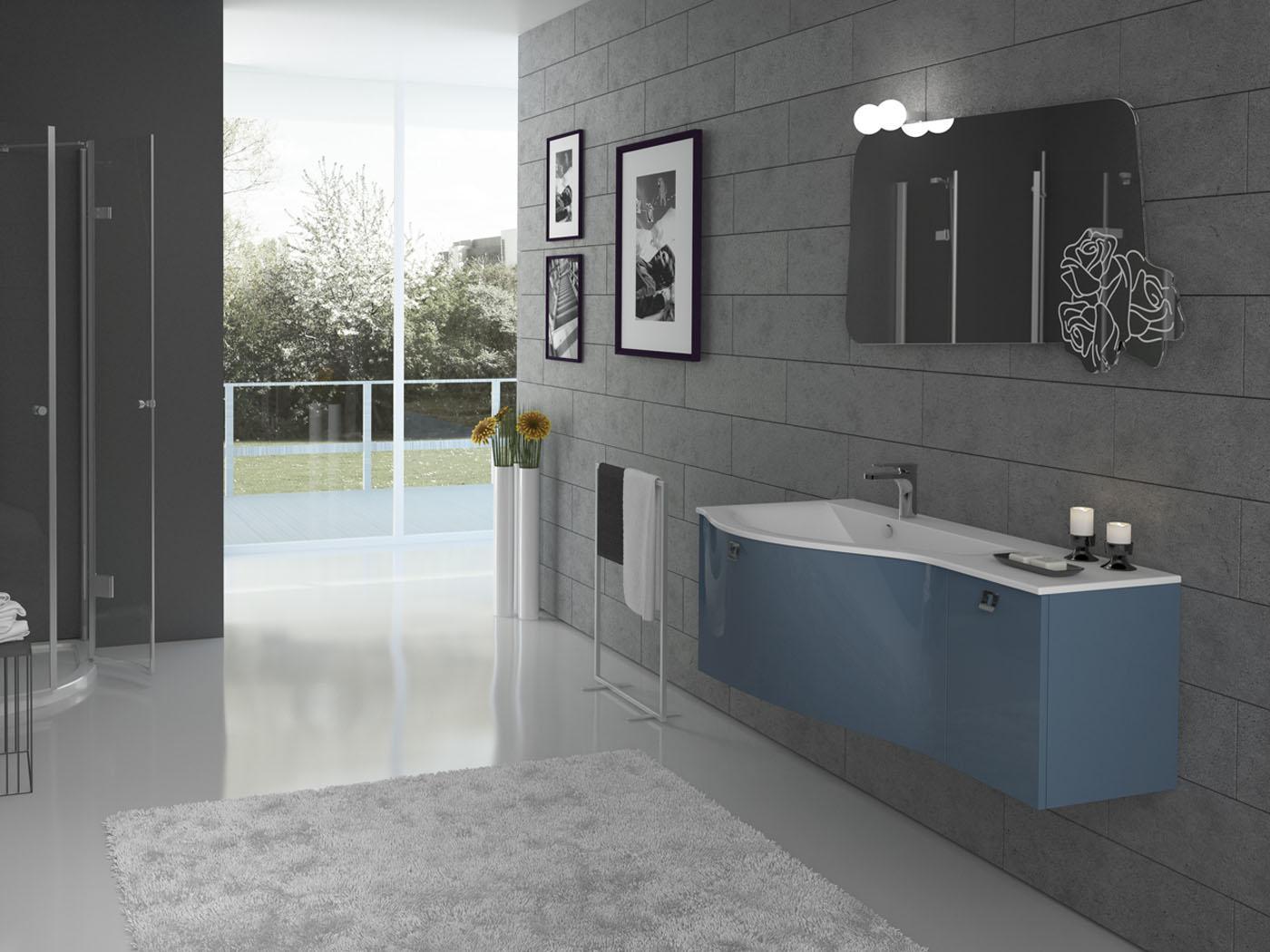 Gran tour mobili da bagno con colori attuali e linee accattivanti