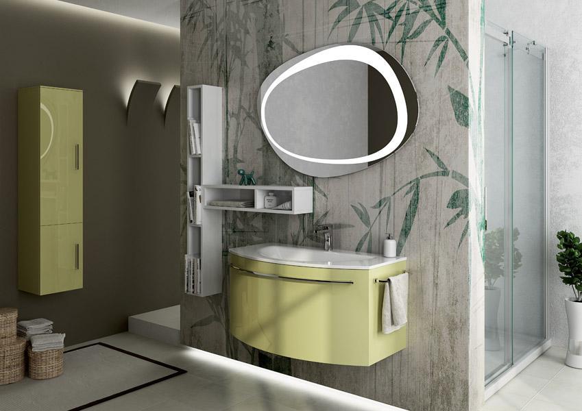 Gran tour mobili da bagno con colori attuali e linee for Arredo bagno catania