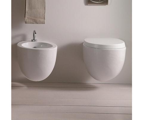 ESEDRA sanitari, lavabi d'arredo. Forme pulite e geometrie semplici con linee rette e curve. Esedra BULL 500