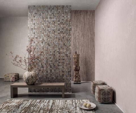 EFFEITALIA Effetti materici di grane diverse, fibre naturali quali sisal, seta o carte intracciata,  Effeitalia Rivestimenti murali