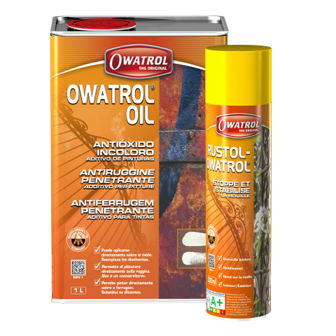 ANTIRUGGINE TRASPARENTE PENETRANTE OWATROL  OIL INCOLORE