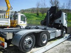 AUTOCARRO/CAMION IVECO EUROTEK 260-380 GRU HIAB 12000/4S ATTREZZATURA SCARRABILE 20 TON
