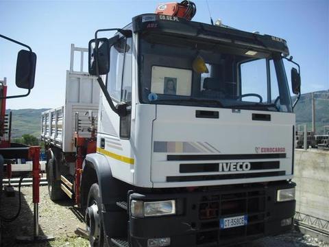 AUTOCARRO/CAMION IVECO 150E27 BALESTRATO CON GRU HEILA HL-L 140/4S RADIOCOMANDO CASSONE RIBALTABILE