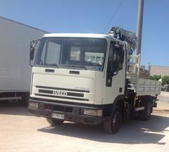 Iveco Eurocargo 80e18 cassone ribaltabile e gru Diesel