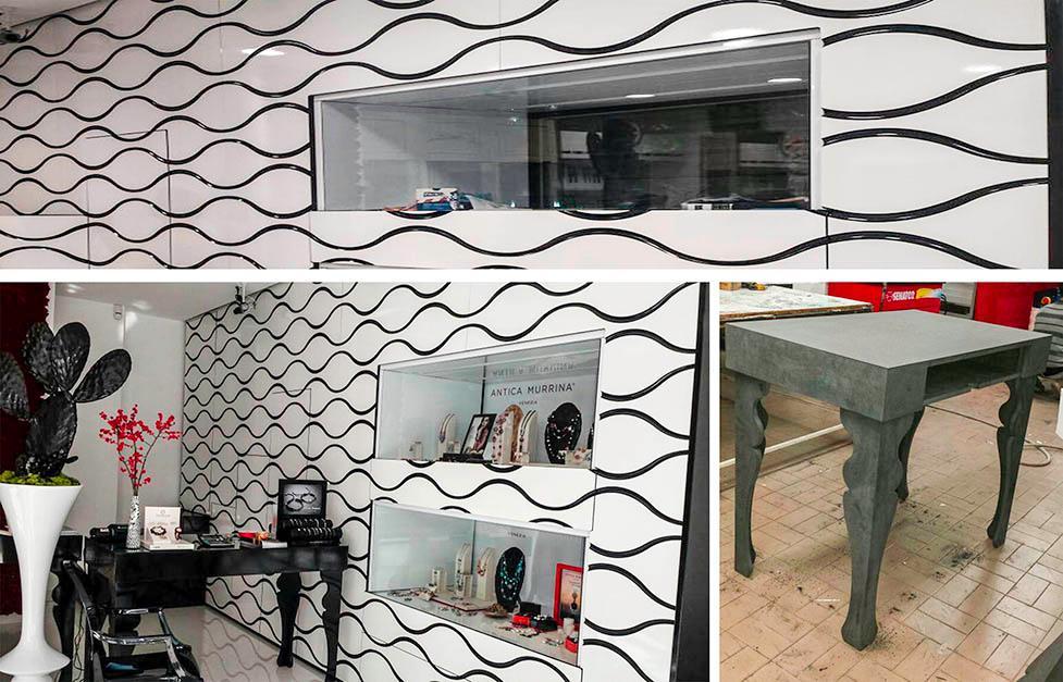 Arredi di design per negozi a catania e sicilia pixel for Negozi di arredamento catania