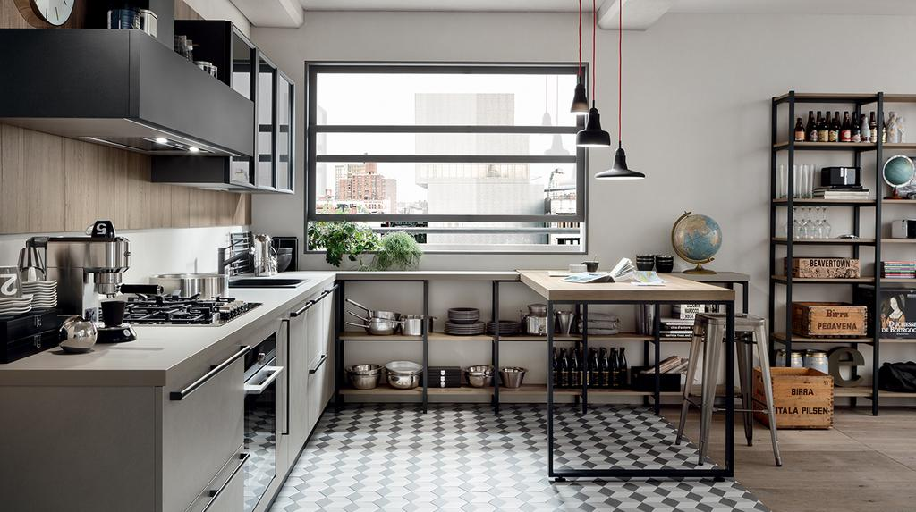Cucine con penisola veneta cucine mazara del vallo trapani for Casa moderna veneta cucine