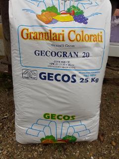 CONCIME GECOGRAN 20 CONF 25 KG FERTILIZZANTI GECOS  CONCIME GECOGRAN 20-10-10 PIU MICRO