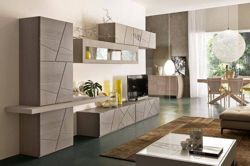 Parete attrezzate moderne rilievo fraz di trapani for Soggiorni pareti attrezzate