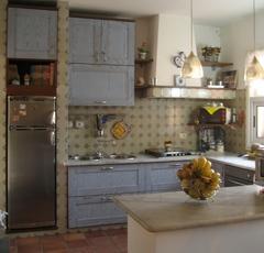 Cucina Decapè Chiaramonte Ragusa Sicilia Mobilificio Casmene Decapè Azzurro