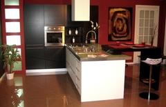 Cucina Rovere Moro e Laccato Bianco Opaco Chiaramonte Ragusa Sicilia Mobilificio Casmene Rovere Moro e Laccato Bianco