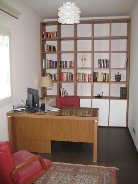 Arredamento Ufficio Chiaramonte Ragusa Sicilia Mobilificio Casmene Teak e Bianco Opaco