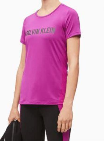 T-shirt con logo in rete  Calvin Klein Performance