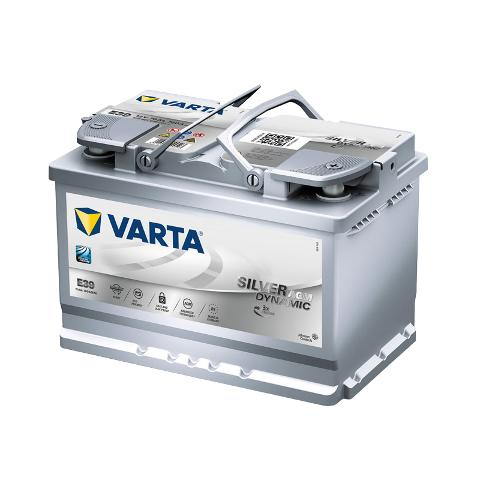 Batteria AGM E39 Start-Stop Plus 70Ah 760A VARTA 570901076