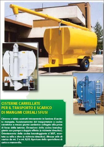 Cisterne carrellate per il trasporto e scarico di mangimi for Attrezzature zootecniche usate