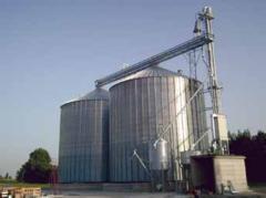 Impianto di Stoccaggio Cereali con Silos in Lamiera Ondulata