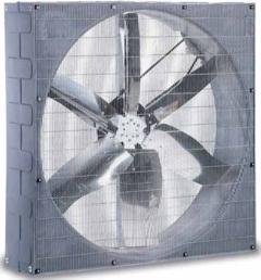Ventilatori per ricambio aria in allevamenti, serre ecc.