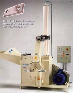 Molino a martelli con estrazione farine a coclea motore elettrico da 37 kw
