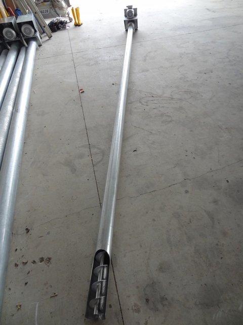 Coclea di scarico rigida in ferro zincato di vari diametri e misure EUROSILOS SIRP