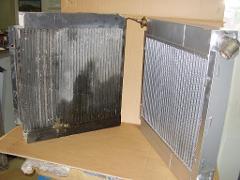 Costruzione Radiatore olia/aria MATTEI COMPRESSORE