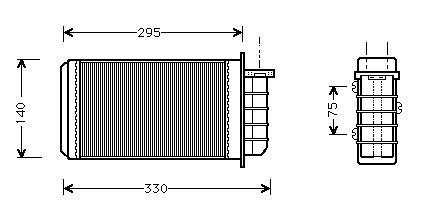 Radiatore di riscaldamento FIAT BRAVO/A 1.9 JTD-MAREA