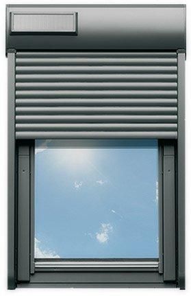 Persiana avvolgibile in alluminio solare con telecomando for Tabella misure velux